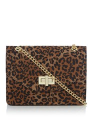 Therapy Large Bailey Cross Body Bag Leopard
