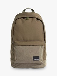 Adidas Linear Classic Casual Backpack Raw Khakiwhite