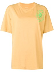 Julien David Round Neck T Shirt Yellow And Orange