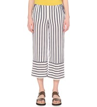 Whistles Cut About Stripe Wide Leg Woven Trousers Multi Coloured