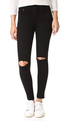 James Jeans Twiggy 5 Pocket Ankle Legging Black Swan Raw