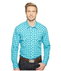Rock And Roll Cowboy Long Sleeve Snap B2s1249 Turquoise Men's Clothing Blue