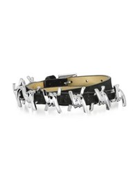 Dsquared Babe Wire Black Suede And Silvertone Armlet