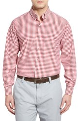 Men's Cutter And Buck 'White Sage' Classic Fit Long Sleeve Check Sport Shirt Botanic