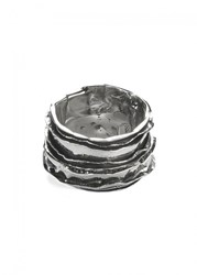 Emanuele Bicocchi Sterling Silver Textured Ring
