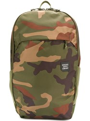 Herschel Supply Co. Camouflage Print Backpack Green