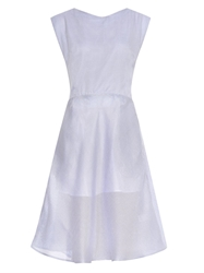 Thierry Colson Taroni Cross Back Gazar Dress