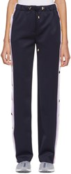 Versace Blue Button Track Trousers
