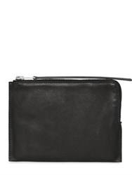 Rick Owens Leather Zipped Medium Pouch