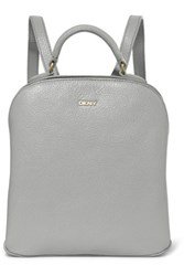 Dkny Textured Leather Backpack Gray
