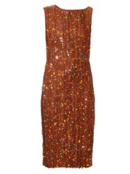 Nina Ricci Sequin Embellished Pleated Dress