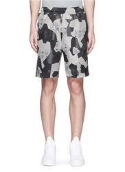 Mcm X Christopher Raeburn 'Splinter Camo' Jacquard Shorts Grey