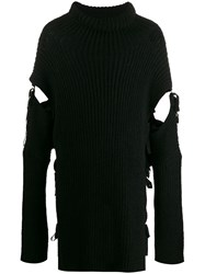 Ann Demeulemeester Cut Out Ribbed Jumper 60