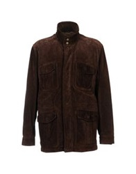 Henry Cotton's Jackets Dark Brown