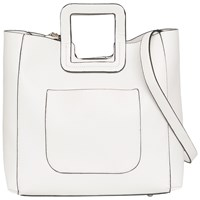 French Connection Square Handle Tote Bag White