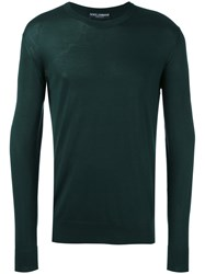 Dolce And Gabbana Crew Neck Sweater Green