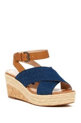 French Connection Liora Crisscross Wedge Sandal Multi