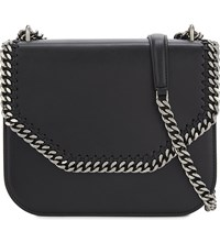 Stella Mccartney Falabella Box Faux Leather Shoulder Bag Black
