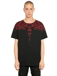 Marcelo Burlon Rey Printed Cotton Jersey T Shirt