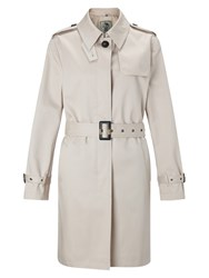 Four Seasons Single Breasted Short Trench Jacket Natural