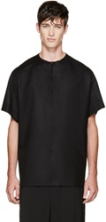 Thamanyah Black Wool Loden T Shirt