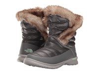 The North Face Thermoball Microbaffle Bootie Ii Shiny Smoked Pearl Grey Subtle Green Women's Pull On Boots Gray