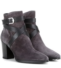 Tod's Suede Ankle Boots Grey