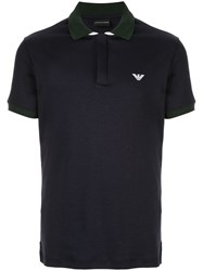 Emporio Armani Slim Fit Polo Shirt Blue