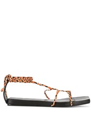 Christopher Esber Braided Sandals Black