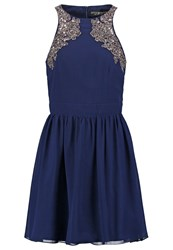 Little Mistress Cocktail Dress Party Dress Navy Dark Blue