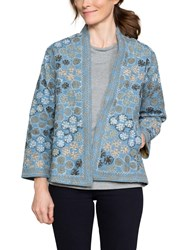 East Floral Embroidery Jacket Navy Multi