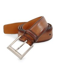 Saks Fifth Avenue Collection By Magnanni Leather Belt Tabaco
