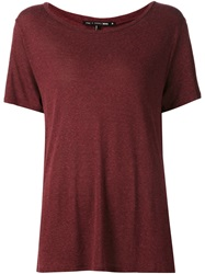 Rag And Bone Rag And Bone Scoop Neck T Shirt Red