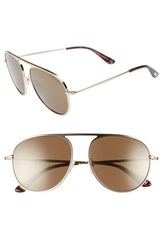 Tom Ford 59Mm Aviator Sunglasses Shiny Rose Gold Blue Shiny Rose Gold Blue