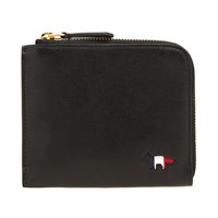 Maison Kitsune Tricolour Leather Coin Purse Black