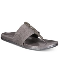 Kenneth Cole Reaction Slim Stand Flat Sandals Pewter