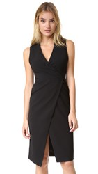 Alice Olivia Carissa Faux Wrap Dress Black
