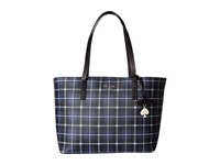Kate Spade Hawthorne Lane Plaid Ryan Diver Blue Handbags