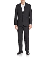 Vince Camuto Modern Fit Tonal Windowpane Wool Suit Black