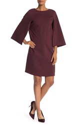 Lafayette 148 New York Split Sleeve Shift Dress Rhubarb