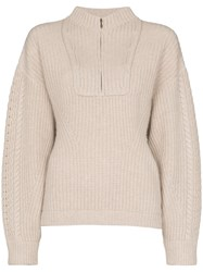 Le Kasha Half Zip Knit Jumper 60