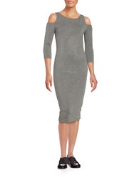 Bailey 44 Deneuve Knit Cold Shoulder Dress Grey