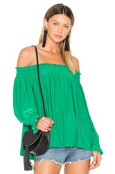 Norma Kamali Peasant Top Green