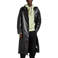 Alyx Vinyl Effect Contrast Stitched Coat Black