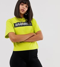 Napapijri The Tribe Sait Cropped T Shirt In Green