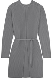 Eres Morning Wool And Cashmere Blend Cardigan Stone