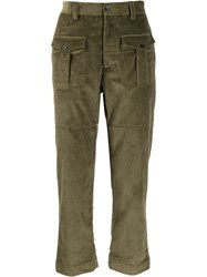 Gabriele Pasini Front Pocket Corduroy Trousers Green