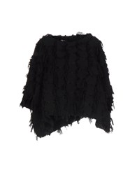Federica Tosi Capes And Ponchos Black