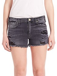 Mcguire Pom Pom Distressed Cut Off Short Grey