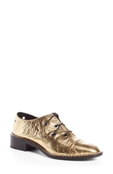 Proenza Schouler Women's 'Criss Cross' Metallic Lace Up Oxford Metallic Gold